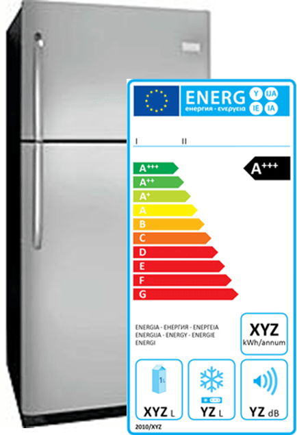 Refrigerator with label-min